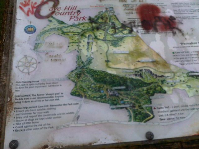 Cave Hill Country Park map (April 2012)