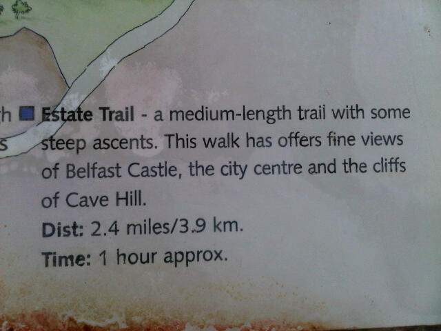 Cave Hill Country Park map error (1)